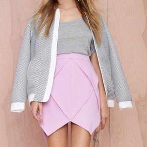 Lavender Origami jagged frill NG skirt
